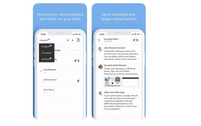 Klara App Medizinische Kommunikation